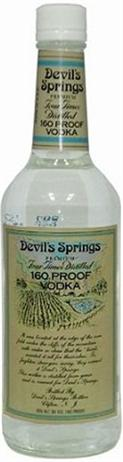Devil's Springs Vodka 160 Proof